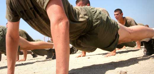 Push-ups - A great bodyweight exercise.