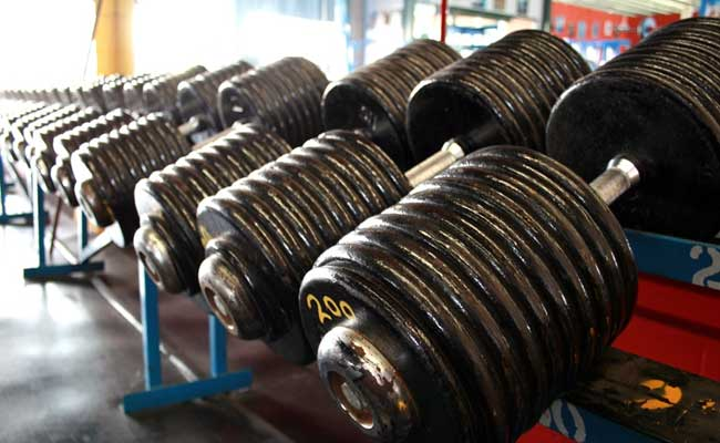 Dumbbells: An essential bodybuilding tool.