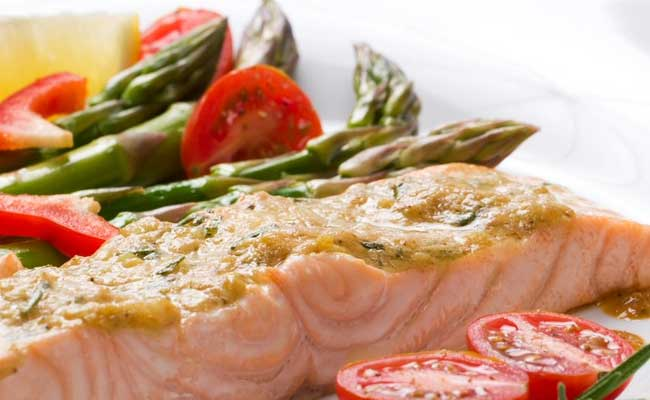 Salmon: A great source of protein and fat.
