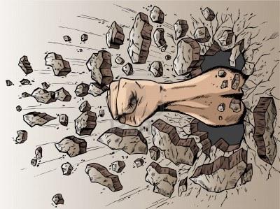 fist-through-wall