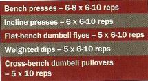 Arnold chest routine original