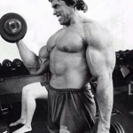 Training chest with Arnold Schwarzenegger