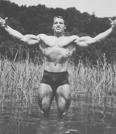 arnold in the water knee deep