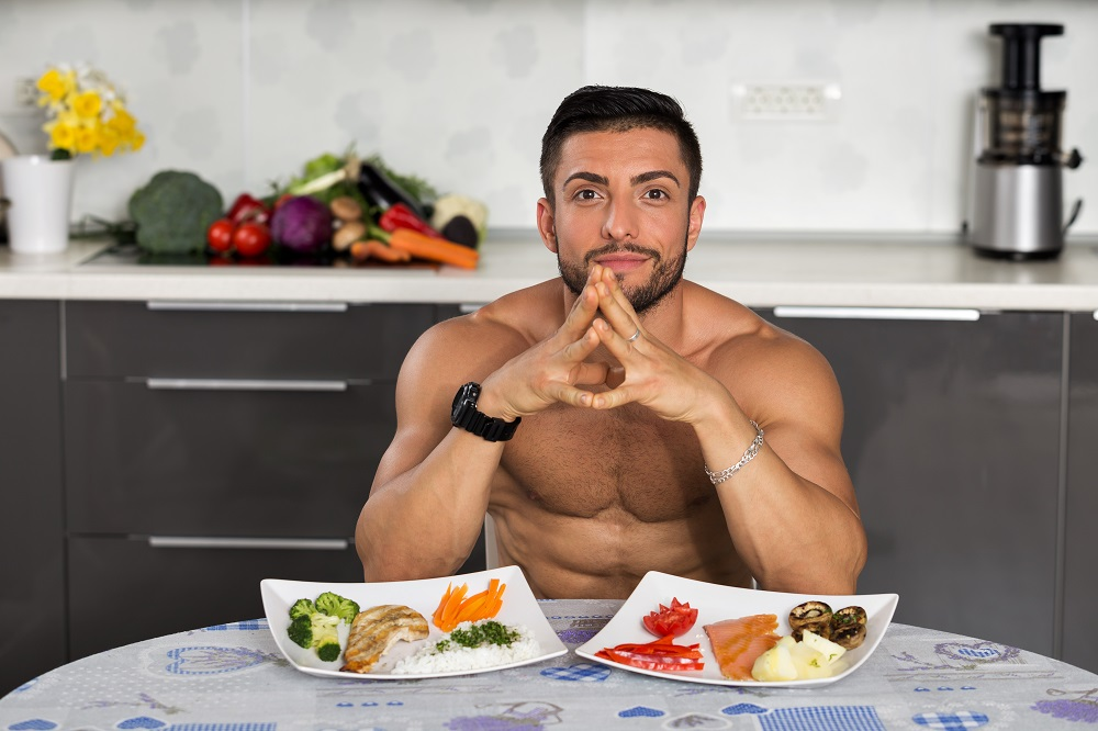 Young Bodybuilder In The Kitchen